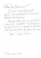 Dopis Luďka Bárty