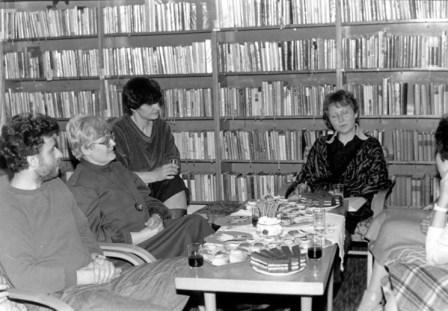 Markéta Zinnerová a Jiří Fixl na besedě v knihovně